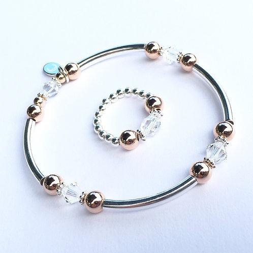 Rose Gold Devani Bracelet and Ring Set