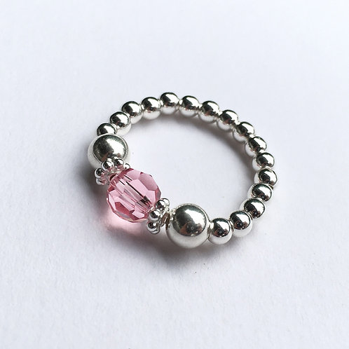 Pink Devani Ring (Silver)