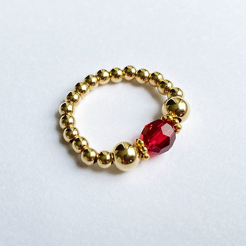 Red Devani Ring (Gold)