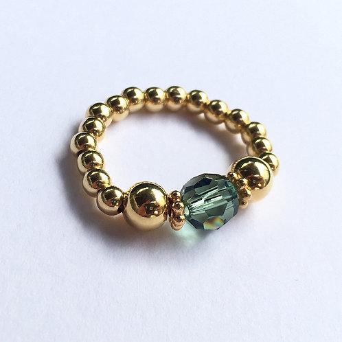 Green Devani Ring (Gold)