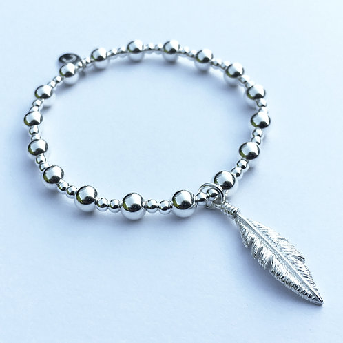 Silver Fedora Feather