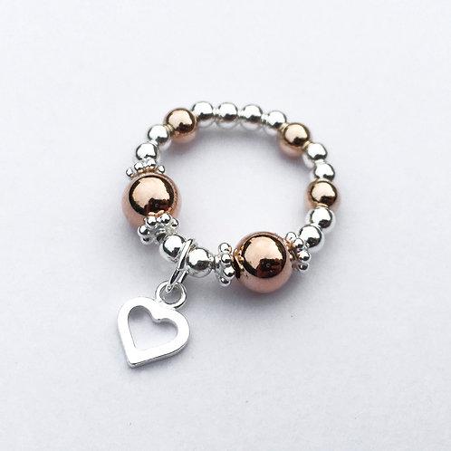 Evelyn Open Heart (Rose Gold)