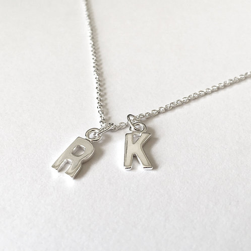 Initial It Silver Necklace