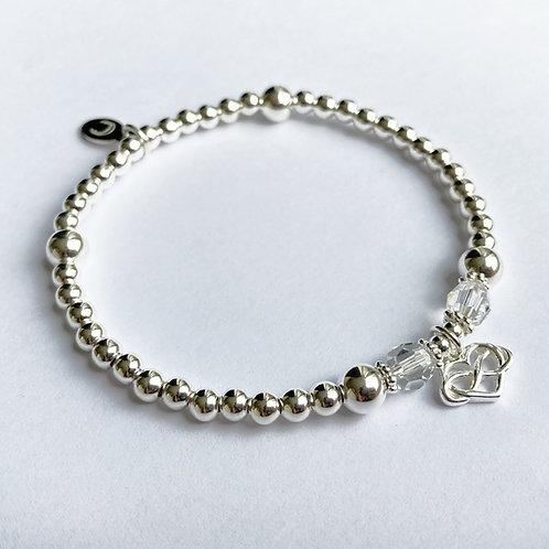 Scarlett Crystal Infinity Bracelet (Clear)