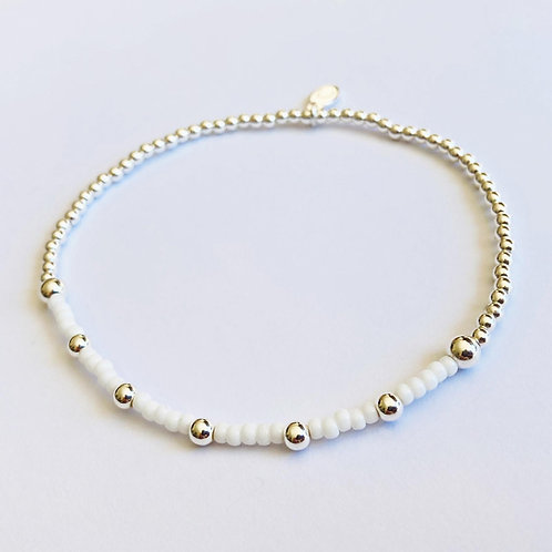 Pina Colada Anklet (Silver)