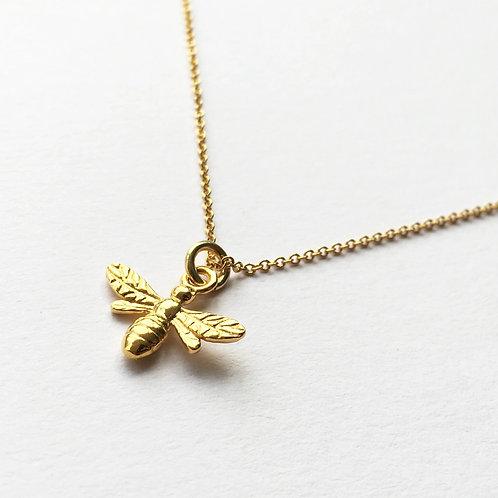 Gold Honeybee Necklace