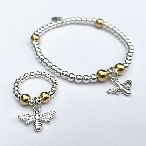 Honeybee Bracelet and Ring Set