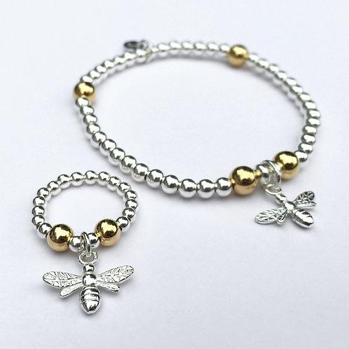 Honeybee Bracelet and Ring Set