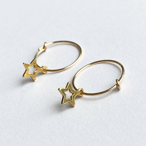 Gold Sitara Hoop Earrings