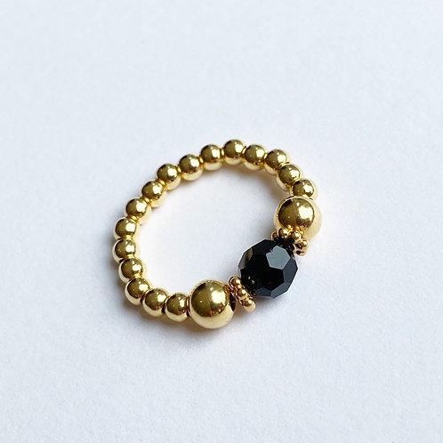 Black Devani Ring (Gold)