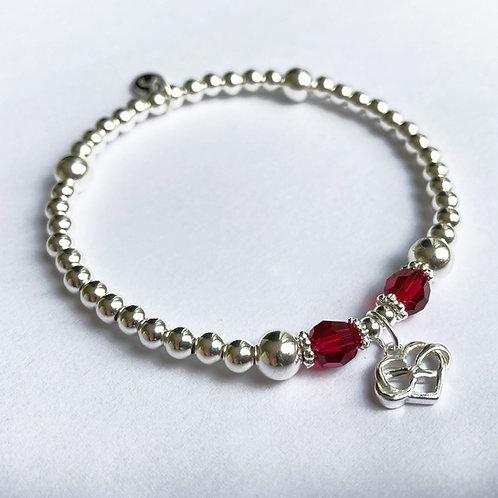 Scarlett Crystal Infinity Bracelet (Red)