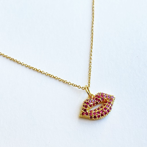 Lip Candy Necklace (Gold)