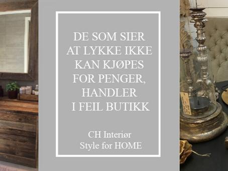 CH INTERIØR FLYTTER INN PÅ GÅRDEN