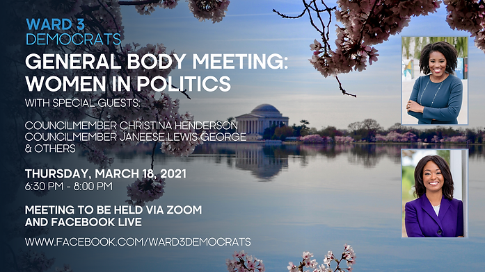Ward 3 Democrats General Body Meeting -