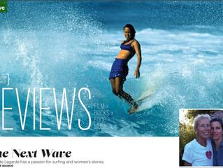 THE NEXT WAVE: Charlotte Lagarde has a passion for surfing and women's stories