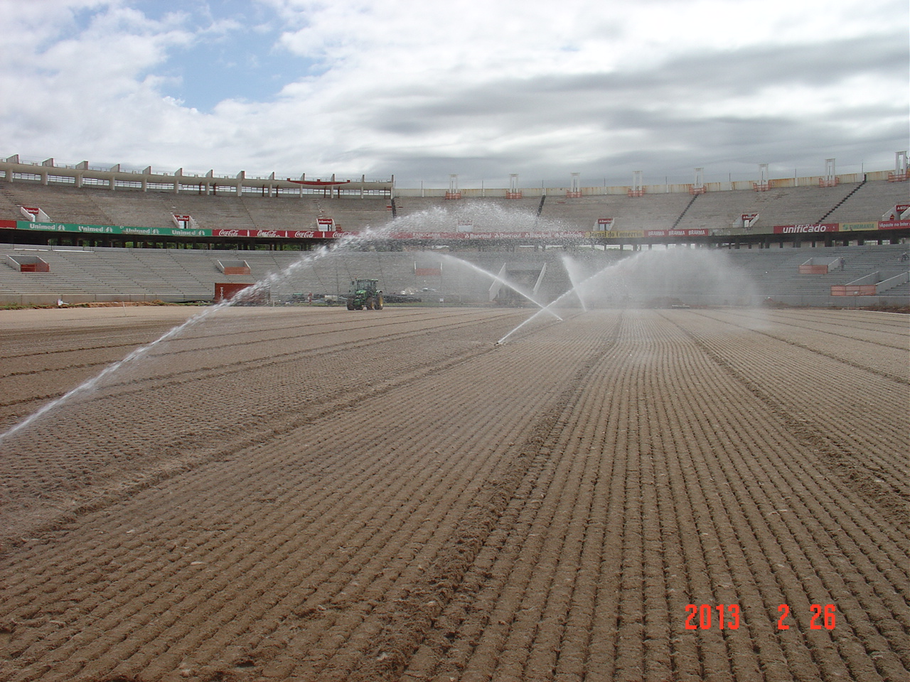 irrigating the surface