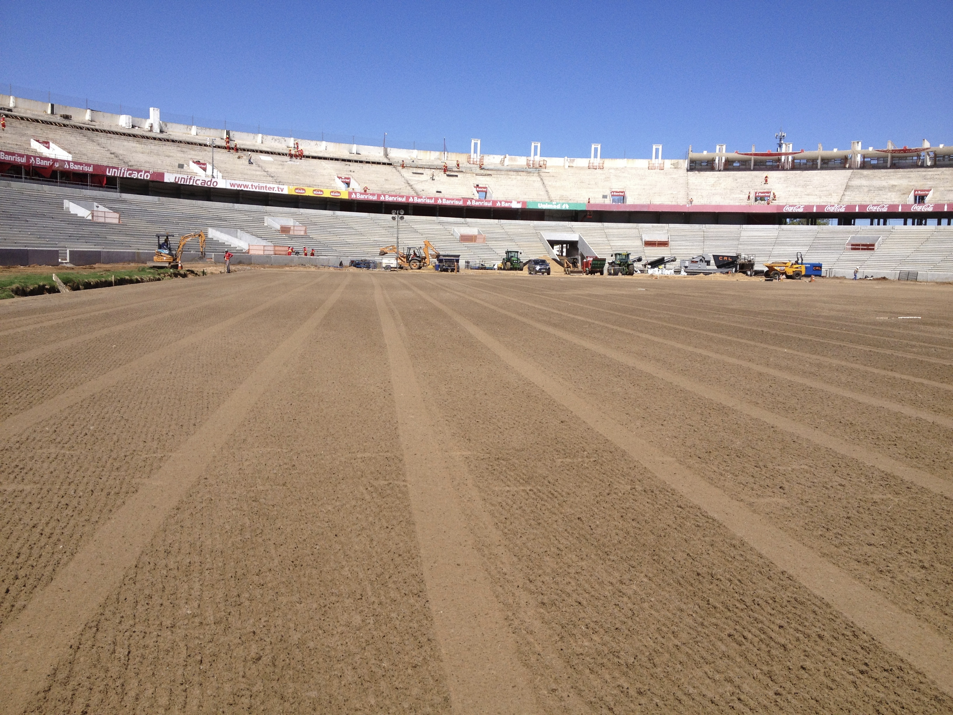 Final level of the pitch