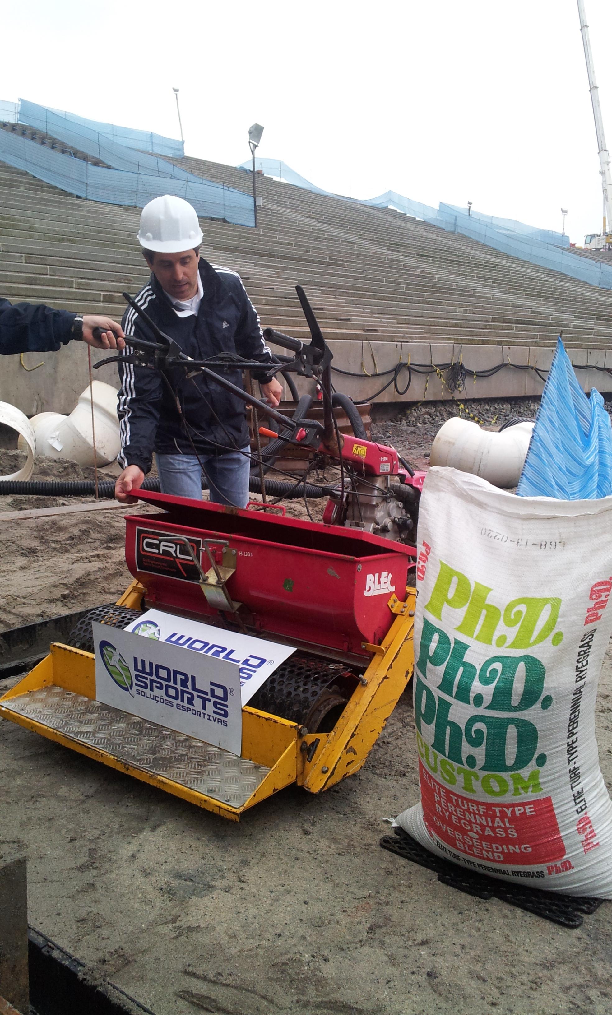 Seeding the pitch
