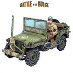 BB004 - US Military Police Willys Jeep with Wire Cutter and Driver