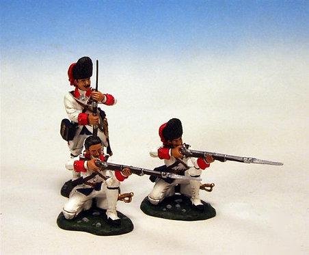 IFGW.5 - 2 Kneeling Firing, 1 Loading, Regiment De La Reine, Grenadier Company