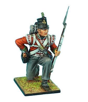 NAP478 - British 51st Light Infantry Regiment Kneeling Loading - Waterloo 1815