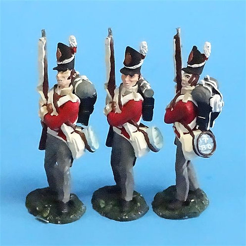 CORD-N0158 - British Infantry - Port Arms (3 Pieces) - All the King's Men  54mm