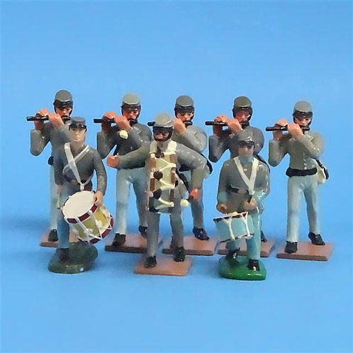 CORD-0529 - Confederate Fife and Drums (8 Figures) - LeMans Unknown Manufacturer