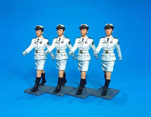 PLA-01N - PLA Navy, Female Cadet Marching - 4 Figures
