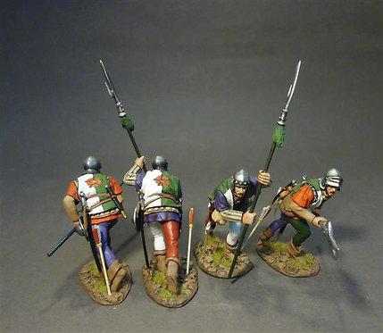 HLANC-09N - Lancastrian Billmen (4 figures)  The Retinue of Henry Tudor