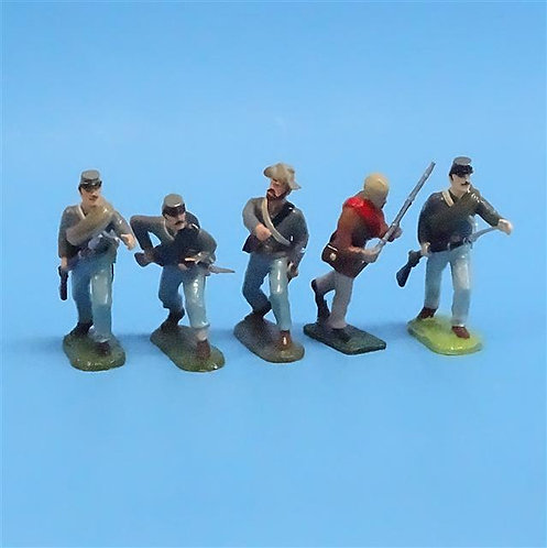 CORD-0623 Confederate Advancing (5 Figures) - ACW - Unknown Manufacturer - 54mm