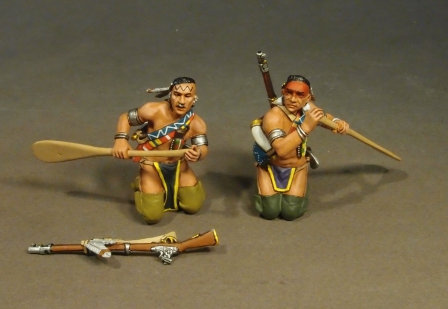 CAN-07 - Two Woodland Indians Paddling (3 pc)