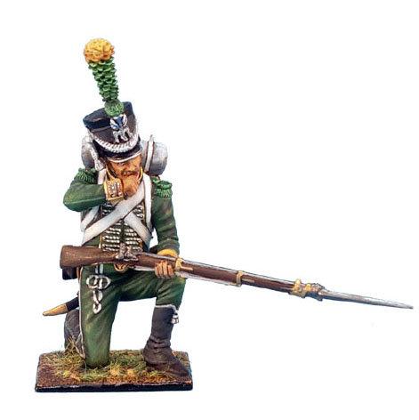 NAP0194 - Westphalian Guard Chasseur Kneeling Biting Cartridge
