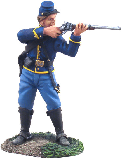 31063 - Union Cavalry Trooper Dismounted Standing Firing No.1
