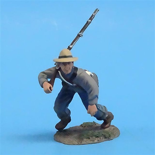 CORD-0678 - Confederate Infantry Charging #3 - ACW - Britains (Set 31044) - 54mm