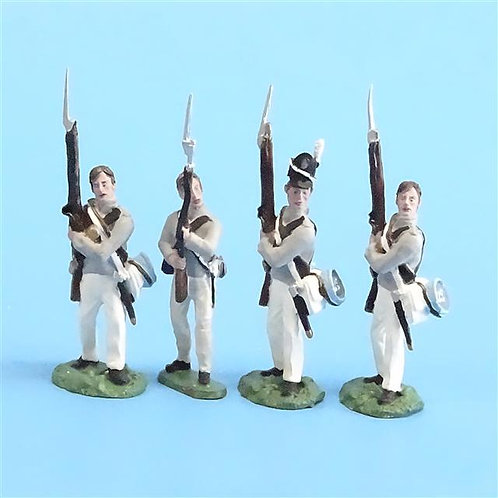 CORD-A0139 - Scotts Brigade Port Arms (4 Pieces) - All the King's Men - 54mm