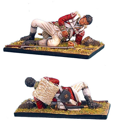 AWI035 - British 5th Foot Grenadier Laying Wounded