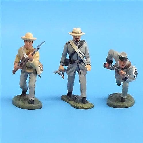 CORD-0668 - Confederates Advancing (3 Figures) - ACW - Britains - 54mm Metal