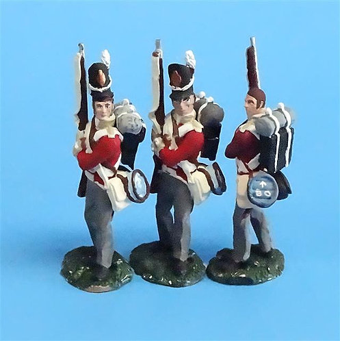 CORD-N0157 - British Infantry - Port Arms (3 Pieces) - All the King's Men  54mm