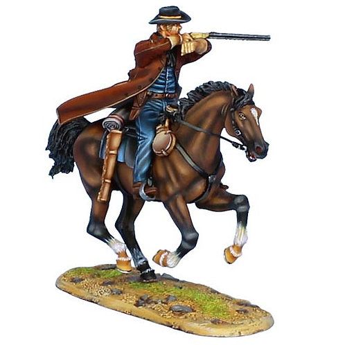 WW007 - Mounted Gunfighter with 1860 Henry Rifle