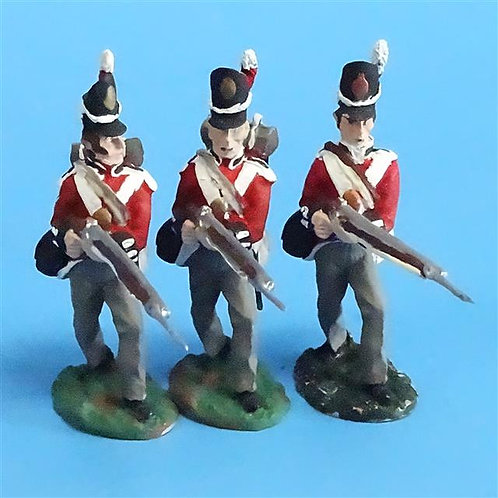 CORD-N0179 - British Infantry - Advancing (3 Pieces) - All the King's Men  54mm