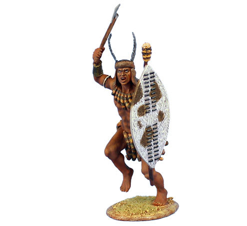ZUL020 - uMhlanga Zulu Warrior with Axe and Shield