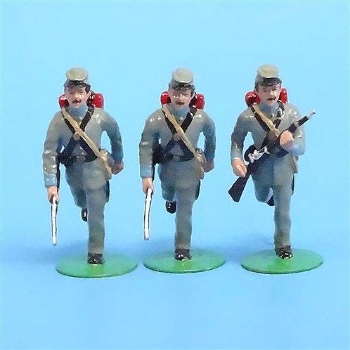 CORD-0750 Confederates Advancing (3 Figures) ACW - Alymer - 54mm Metal - No Box