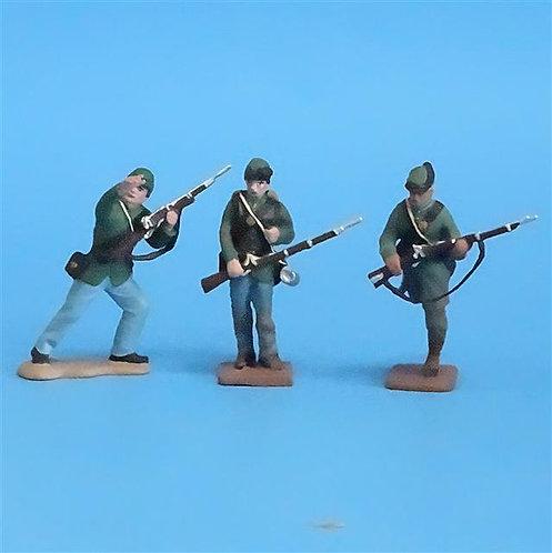 CORD-076 -Berdan's Sharpshooters (3 Figures) - Manufacturer Unknown - 54mm Metal