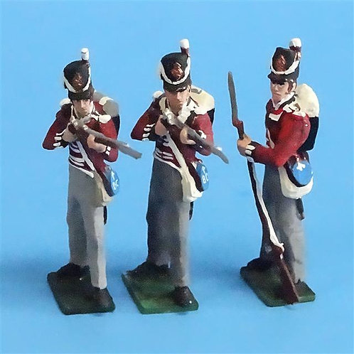 CORD-N0201 - British Infantry - Standing Firing/Loading (3 Pieces) - Tradition