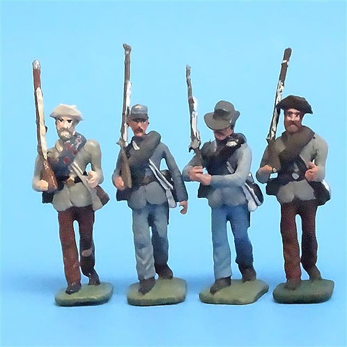 CORD-0788 Confederates Marching (4 Figures) - ACW - Unknown Manufacturer - 54mm