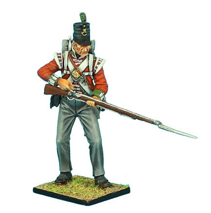 NAP479 -British 51st Light Infantry Regiment Standing Loading #2 - Waterloo 1815
