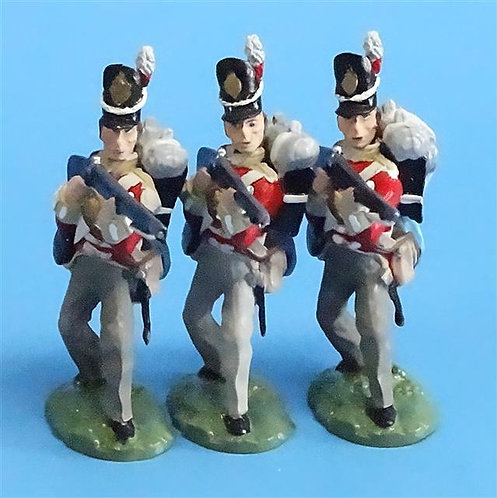 CORD-N0175 - British Infantry - Standing Firing (3 Pieces) - All the King's Men