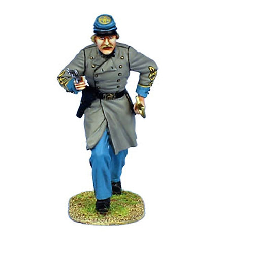 MB002 - Confederate Lieutenant Advancing with Pistol