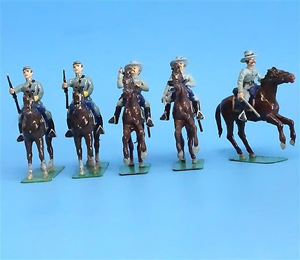CORD-1045 - Confederate Cavalry (5 Figures) - ACW - Unknown Manufacturer - 54mm