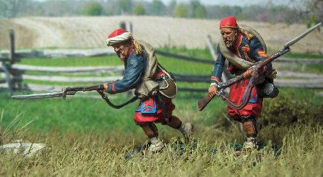 Zouave-007 - Zouaves Advancing Set #2